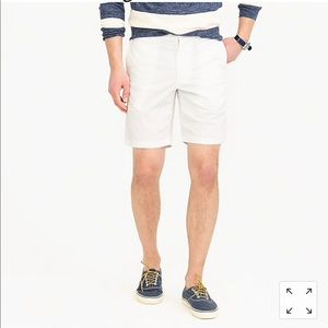 "NWT JCrew Men's 9"" Stretch Short, White, Size 35"
